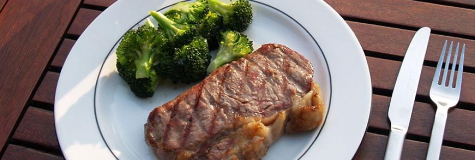 Rumpsteak mit Brokkoli